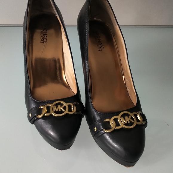 "Michael Kors 4"" Black Leather Heels"